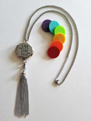 Live Love Dream Aroma Ketting | 50cm incl. afneembare Tassel | (316)