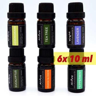 All-Pura; Lavendel, Oranjebloesem, TeaTree, Pepermunt, Eucalyptus+ Citroengras | 60ml | (Voordeelset 1 - etherische olie)