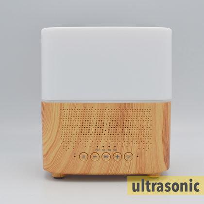 Aroma diffuser AllPura Cube (hout/wood)  Timer, Light & Bluetooth speaker | 300ml | (ultrasoon)