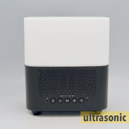 Aroma diffuser AllPura Cube (zwart/black)  Timer, Light & Bluetooth speaker | 300ml | (ultrasoon)