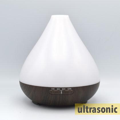 AD Aquair Vaso II (donkerhout/darkwood)  Timer, LED-striping | 400ml reservoir | (ultrasoon)