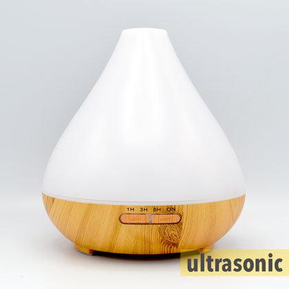Aroma diffuser Aquair Vaso  II (hout/wood)  Timer, LED-striping | 400ml reservoir | (ultrasoon)