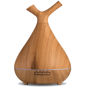 AD Aquair type duo Chiaro (hout/wood)  Timer, LED,  Afneembare top | 400ml | (ultrasone aroma diffuser)