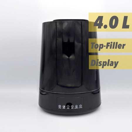 luchtbevochtiger Aquair Delta Zwart | Digitaal, afstandsbediening, Ionisator, Aroma-pad, en Waterfilter (25W)