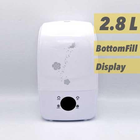 Luchtbevochtiger Aquair Alpha | Digitaal, afstandsbediening, Ionisator, Aroma-pad, en Waterfilter (22W)
